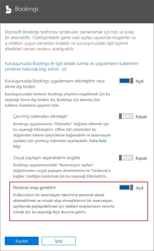 Ekran görüntüsü: kayıt sayfaya eklenmeden önce kullanıcı onayı iste için bu seçeneği belirleyin.