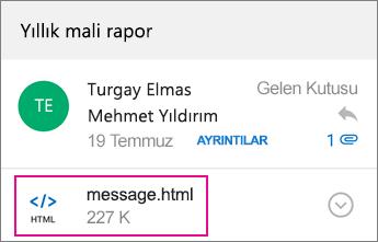 1 Android için Outlook'la OME Görüntüleyicisi