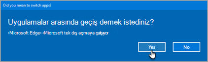 Office 365 geçiş uygulamaları istemi