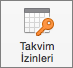 Outlook Mac 2016 Takvim İzinleri Düğmesi