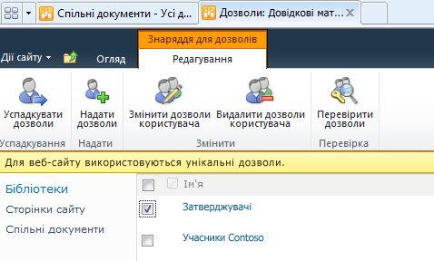 видалення дозволів користувача
