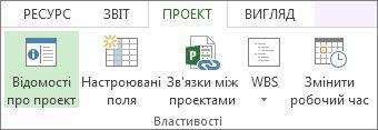 Зображення кнопки «Відомості про проект».