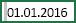 Клітинка з виділеним пробілом перед 01.01.2016