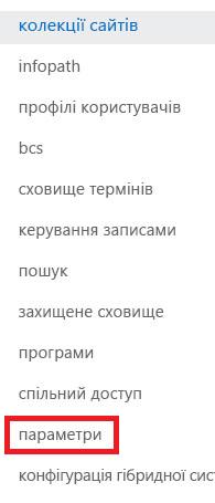 Знімок екрана з області завдань колекції сайтів