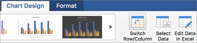 """Перейдіть на вкладку """"Chart Design"""" (Конструктор діаграми) і натисніть кнопку """"Switch Row/Column"""" (Перевернути вісь)"""