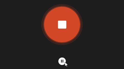 Кнопка «Призупинити»
