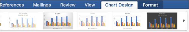 """Перейдіть на вкладку """"Chart Design"""" (Конструктор діаграми) і виберіть стиль діаграми"""
