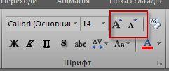 група шрифтів excel