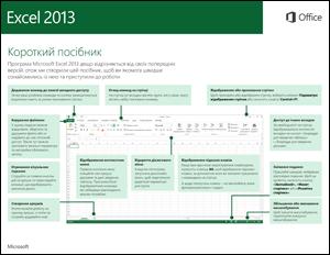 Короткий посібник користувача програми Excel2013