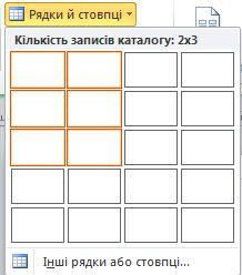 Рядки та стовпці в макеті сторінки каталогу