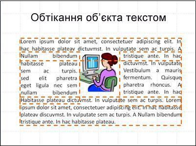 Слайд із вставленим об'єктом, відображеними текстовими полями та повністю введеним текстом