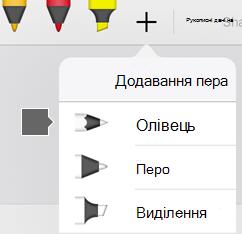 Колекція пера в Office для iPad і iPhone включає текстуру олівця