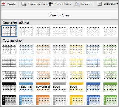 Колекція шаблонів iPad таблиці