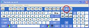 екранна клавіатура windows із клавішею scroll lock