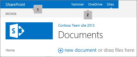 Верхній лівий кут екрана в SharePoint2013
