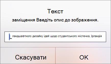 "Меню ""Текст заміщення для зображення"" в Outlook для iOS"