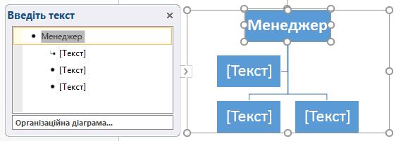 Введення даних в області тексту