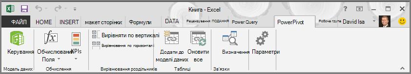 Стрічка PowerPivot