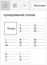 Список стилів