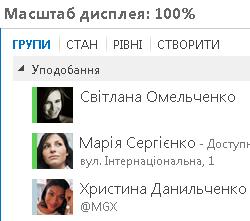 Знімок екрана: відображення в масштабі 100%