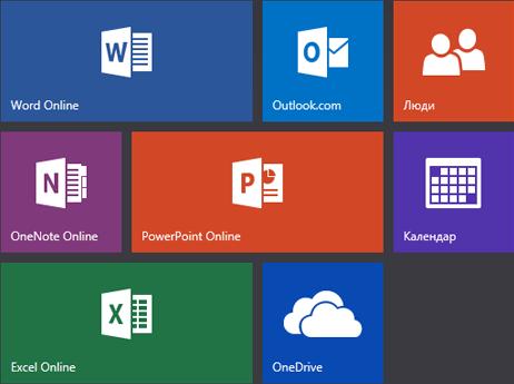 Початковий екран Office.com