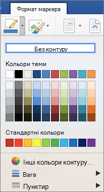 Показано кольори контуру межі зображення.