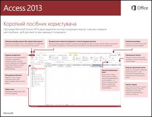 Короткий посібник користувача програми Access 2013