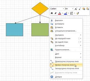 Блок-схема із прямими сполучними лініями, які виходять із центральної точки з'єднання фігури.