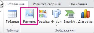 Вставлення зображень в Office 2010
