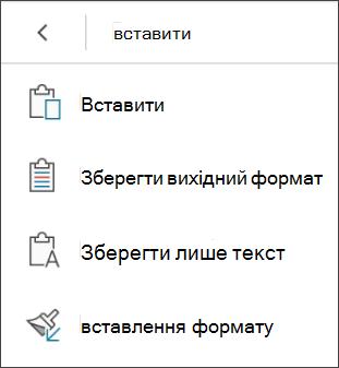 Вставлення форматування
