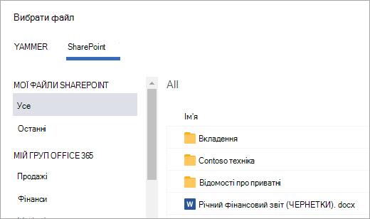 Файл списку SharePoint