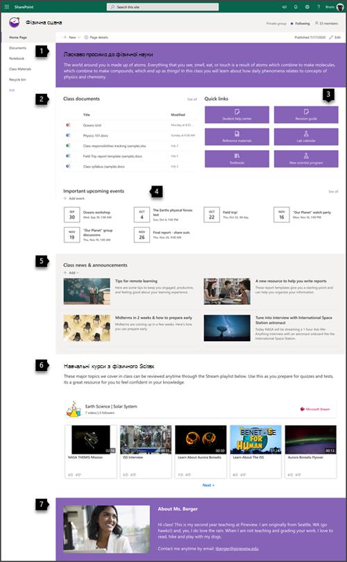 Сайт групи класу