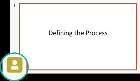 Індикатор присутності в області ескізів слайдів
