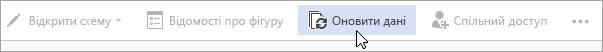 """Кнопка """"Оновити дані"""" в підготовчій загальнодоступній версії Visio Online"""