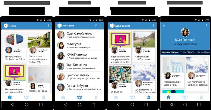 Екрани: Delve для Android