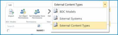 Знімок екрана вибору подання для каталогу даних ПБД.