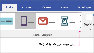 """Вкладка """"Дані"""", кнопка """"Колекція рисунків, пов'язаних із даними"""""""