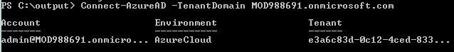 Приклад входу за допомогою облікових даних адміністратора