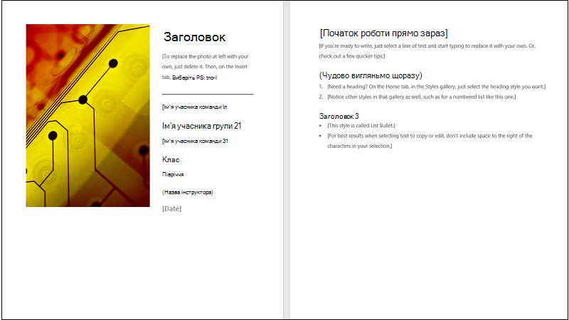 Ілюстрація обкладинки шаблону спільного звіту