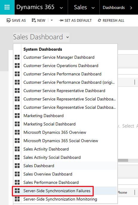 На стороні сервера синхронізації приладна дошка для помилки виділення