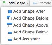 OrgChart Add Shape