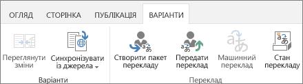 Знімок екрана із вкладкою «Мовні формати» з цільового сайту. Вкладка містить дві групи– «Мовний формат» і «Переклад»