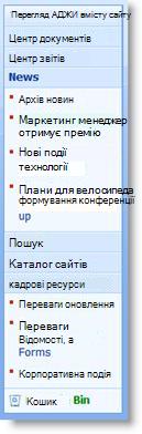 Діалогове вікно настроювання облікового запису вручну