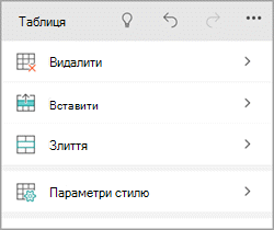 Windows phone вкладку таблиці