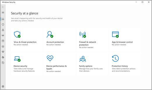 The Безпека у Windows App in Windows 11