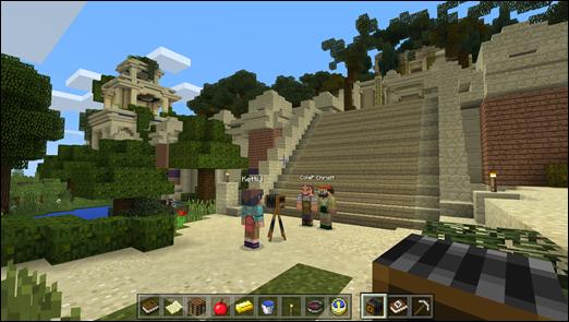 Розміщення віртуальної події в світі Minecraft
