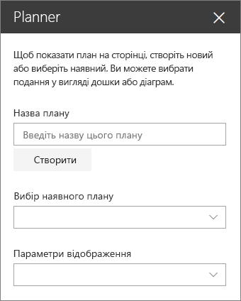 Планування веб-частини елементів