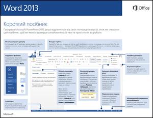 Короткий посібник користувача програми Word2013