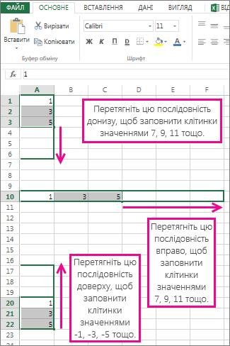 Заповнення лінійних рядів