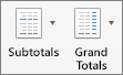 On the Design tab, select Subtotals or Grand Totals